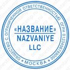 Макет печати для юридического лица - Стандарт 02-К